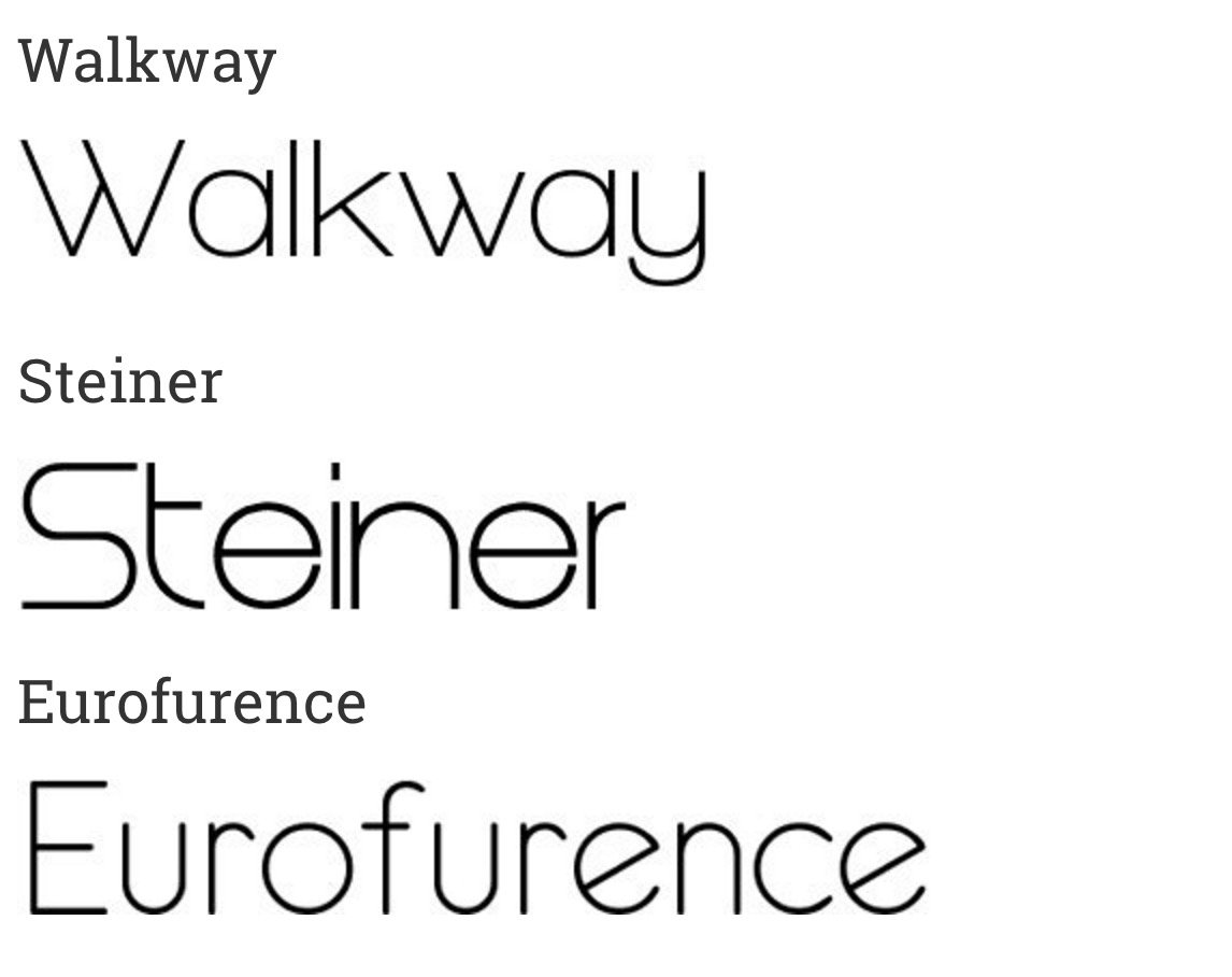 40 Super Sleek Fonts For Clean Web Design