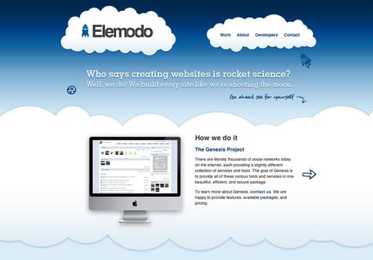 漂亮的蓝色风格网页设计作品