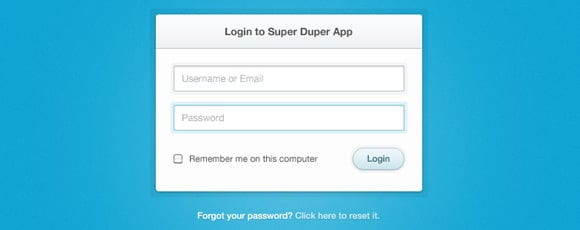 Clean & Simple Login Form