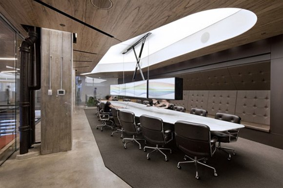 30 examples of creative wooden office interior design