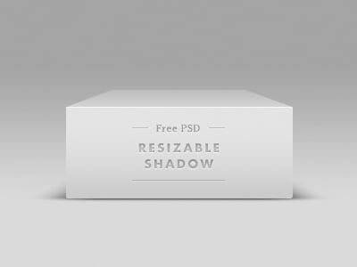 clean white vector shadow PSD