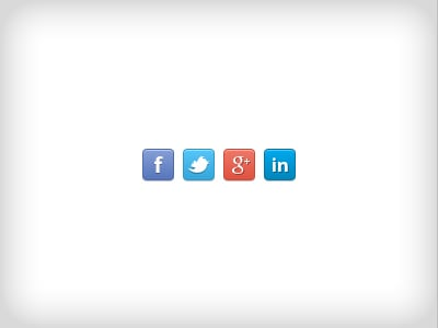social network icons psd freebie