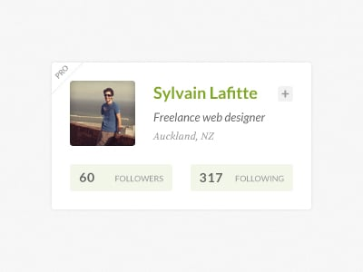 web ui vcard profile badge psd