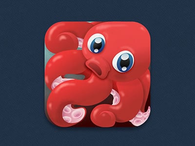 iPhone game mobile app octopus vector