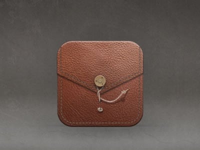 leather container case iPad app icon