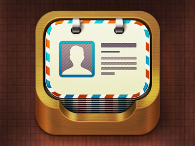 iPhone iPad app icon mobile contacts alternate