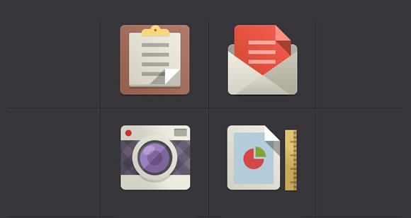 8 Beautiful and Free Flat Icon Sets