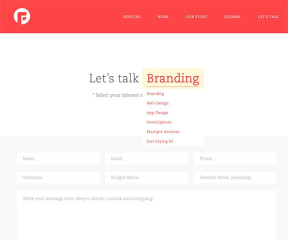 Examples of Well Designed Contact Pages