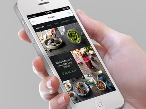 Tasty food mobile app designs for foodies