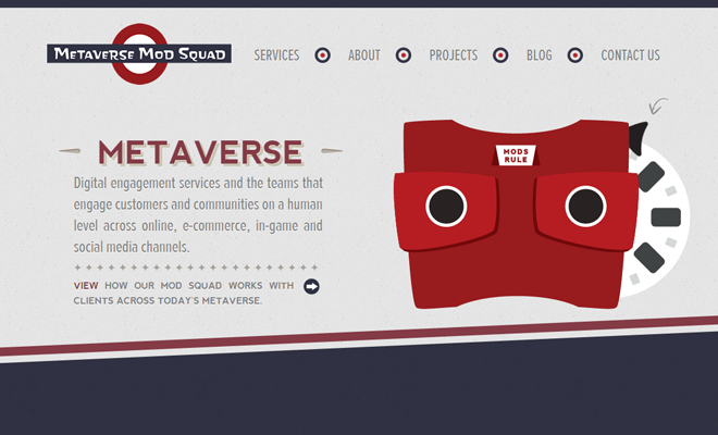 metaverse mod squad personal website homepage design