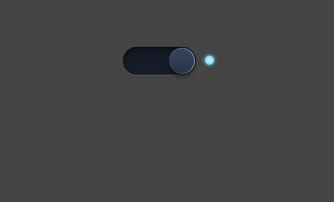 css3 glowing light switch on off