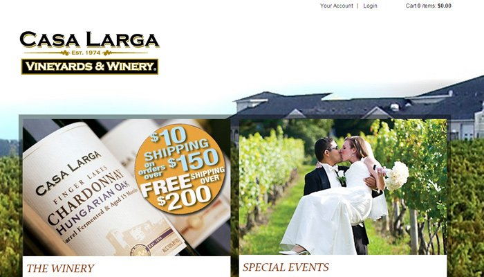 casa larga vineyards winery website