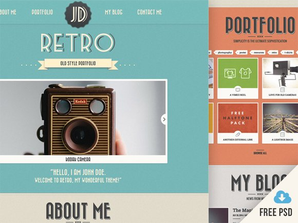 20 Free High Quality Website Template PSDs to Download