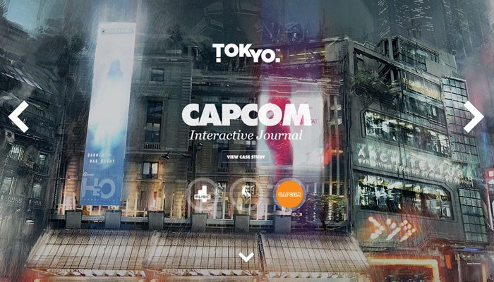 tokyo london agency website slideshow