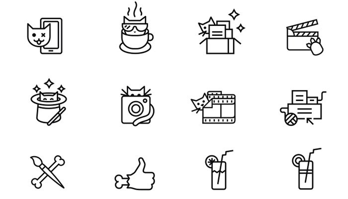 simple thin line icons