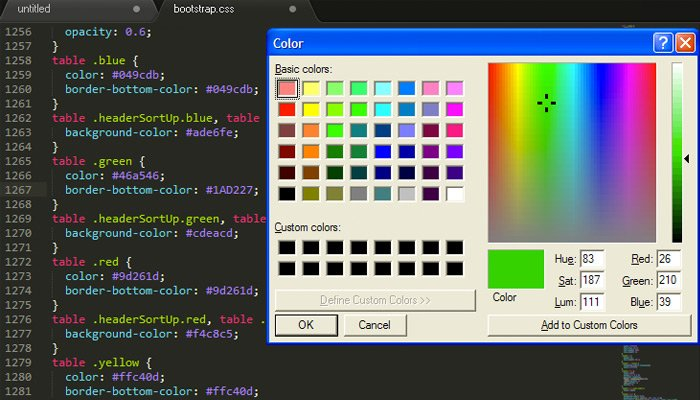 sublime text plugin colorpicker