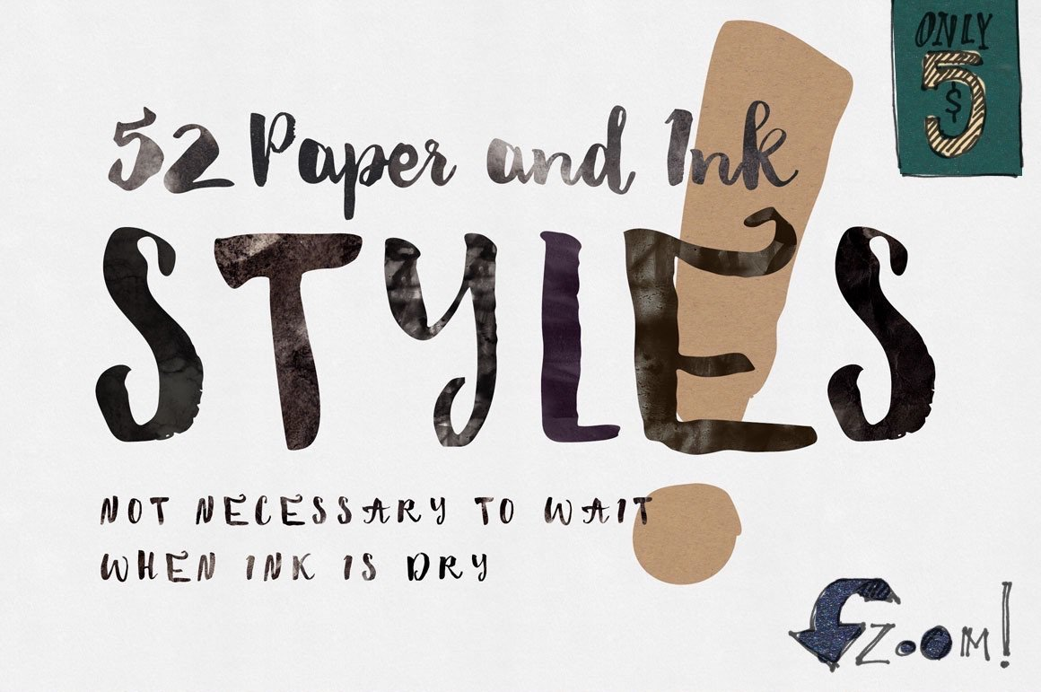 paper ink photoshop styles