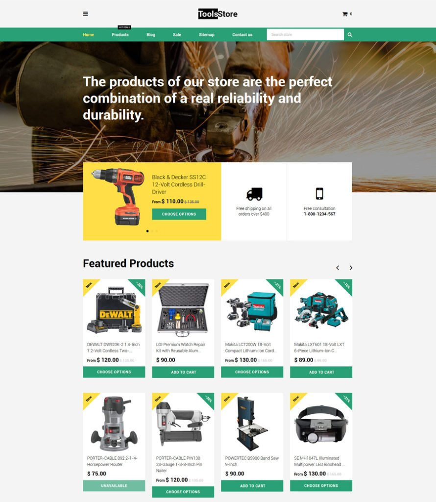 16-tools-store shopify theme