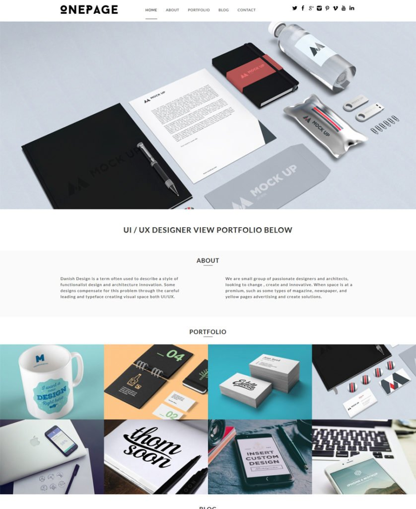 OnePage-WordPress-Theme