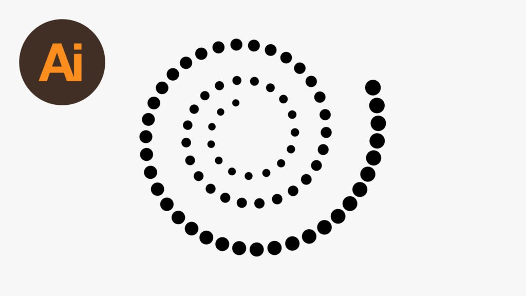 Create Dots Along Spiral Path in Illustrator - Wanderlust